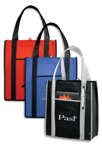 Custom PolyPro Non-Woven Contrast Carry-All Tote Bags