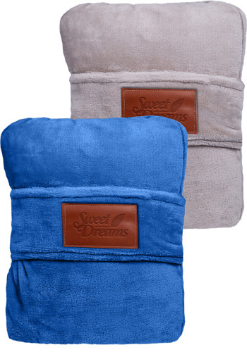 LEEMAN Duo Travel Pillow Blankets