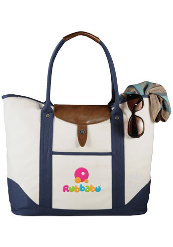 Personalized Legacy Cotton Boat Tote Bags