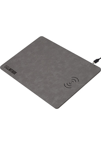 Customized Leon - Wireless Charger Vegan Leather Mouse Pads
