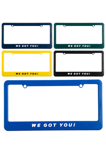 Personalized License Plate Frames with Straight Tops