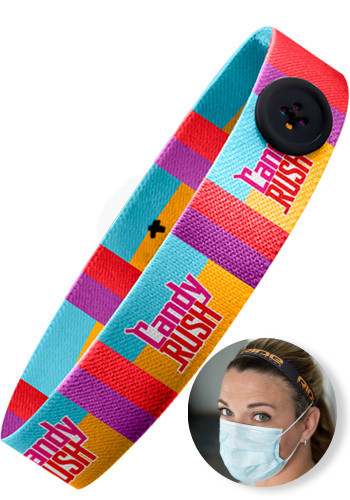 Custom Mask Buddy Pro Elastic Head Bands With Buttons