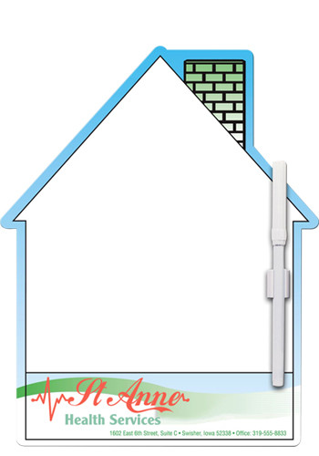 Bulk Memo Board House w/ Mag 10.44in x 8.44in Magnets