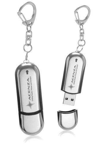 32GB Metal USB Keychains   USB03632GB