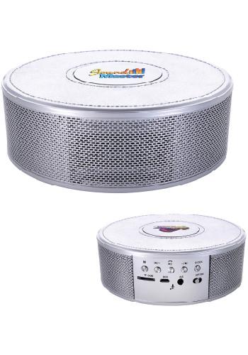 Personalized Metallic Finish Wireless Charging Clock Speakers