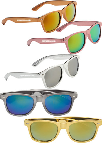 Metallic Sun Ray Sunglasses | SM7869