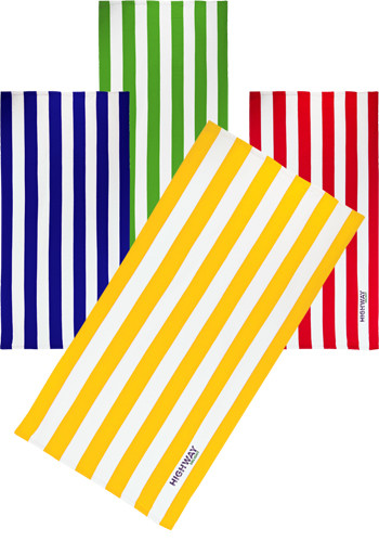 Microfiber Cabana Stripe Beach Towels | TEBP1538