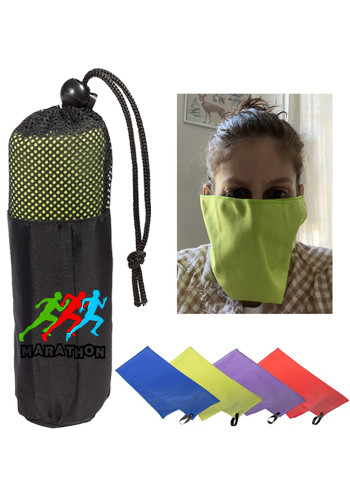 Microfiber Quick Dry Cooling Towel-Masks In Pouch| PLLT4312