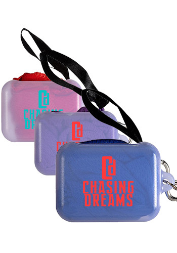 Customized Mini Cooling Towels In Carabiner Case
