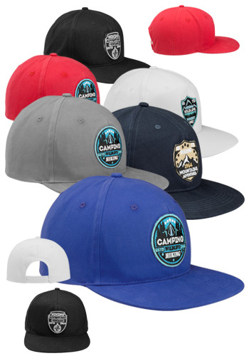 Riverton Flat Bill Snapback Hats