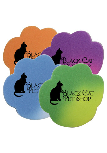 Personalized Mood Die Cut Paw Erasers