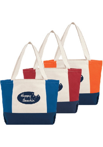 Personalized Nantucket 16 Oz Cotton Canvas Boat Totes