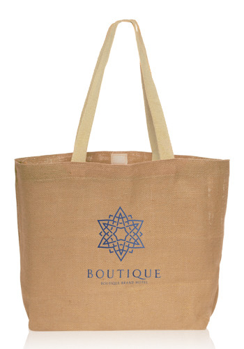 Promotional Natural Jute Fiber Carry-On Tote Bags