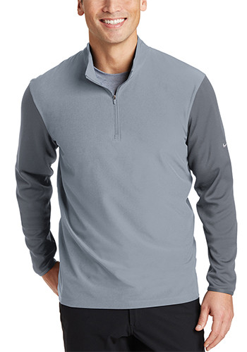Nike Dri FIT Fabric Mix Half Zip Cover Up Pullovers | SA746102