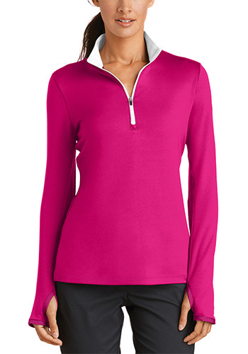 Nike Ladies Dri FIT Stretch Half Zip Cover Up Pullovers   SA779796