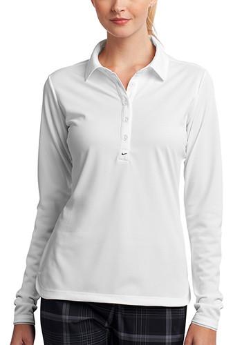 Nike Ladies Long Sleeve Dri FIT Stretch Tech Polos | SA545322