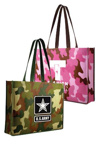 Non-Woven Camo Tote Bags | AK59090