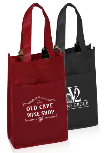 Customized Non-Woven Vineyard Two Bottle Wine Bags