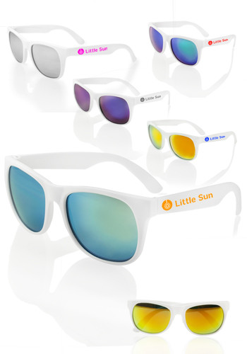 Color Lens Sunglasses with White Frames