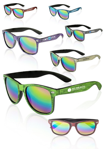 Matte Woodgrain Finish Sunglasses