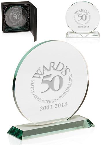 Personalized Round Glass Awards