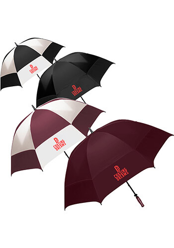 Oversized Checkerboard Golf Umbrellas   ST6800