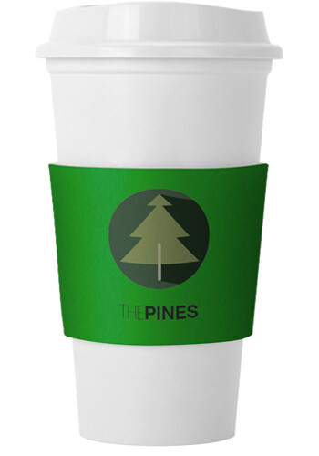 Promotional Parry Recycled Dye-Sublimated Felt Cup Sleeve