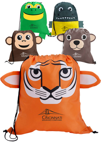 Promotional Paws N Claws Kids Drawstring Backpack