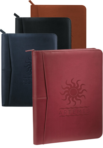 Customized Pedova Zippered Padfolios