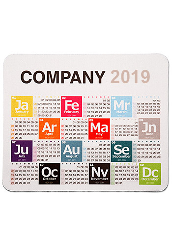 Personalized Periodic Table Calendar Mouse Pads