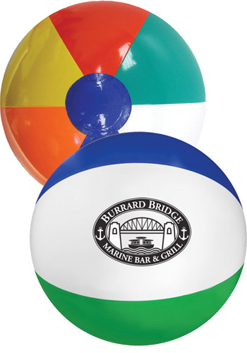 Custom 16 in. Multi- Colored Beach Balls