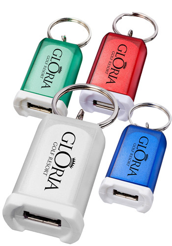 Promotional Lightweight Mini Car Chargers with Key Ring