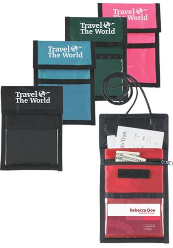 Personalized Nylon Neck Wallet Badge Holders