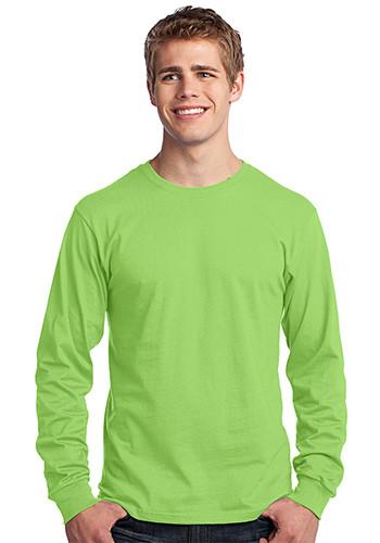 #PC54LS Personalized Port & Company - Long Sleeve 5.4-oz. 100% Cotton T-Shirts