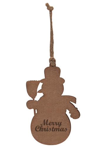Customized Snowman Wood Ornaments