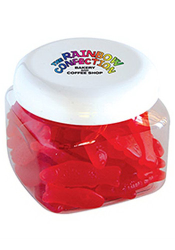 Personalized Swedish Fish in Large Snack Canisters