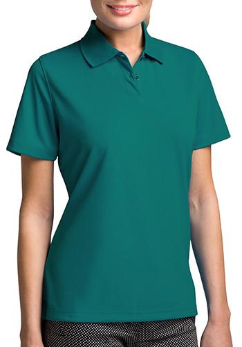Vansport Women's Omega Solid Mesh Tech Polo Shirts   2601