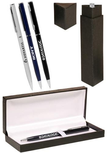 Bulk Skinny Metal Ballpoint Pens Gift Set