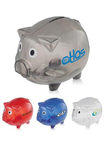Clear Plastic Piggy Banks | SM3250