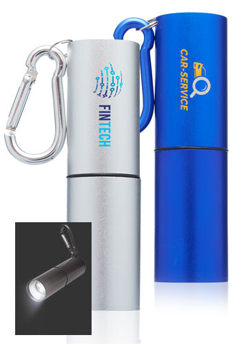 Custom Pipeline Flashlights with Carabiner