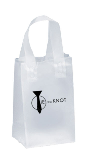 Custom Foil Hot Stamp Shopping Frosted Plastic Bags