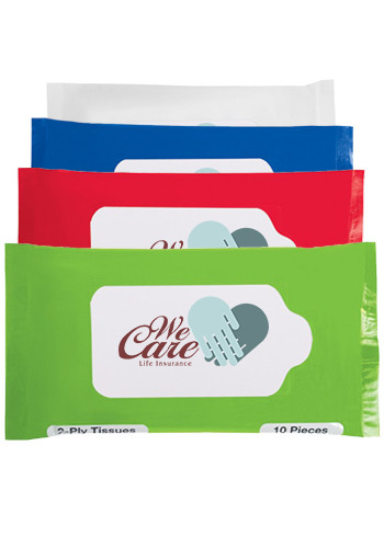 Promotional Pocket Travel Facial Tissues