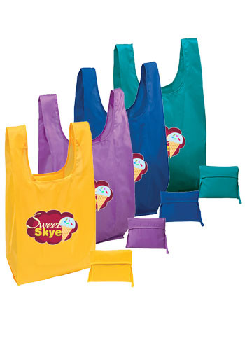 Customized Poly T-shirt Tote Bags
