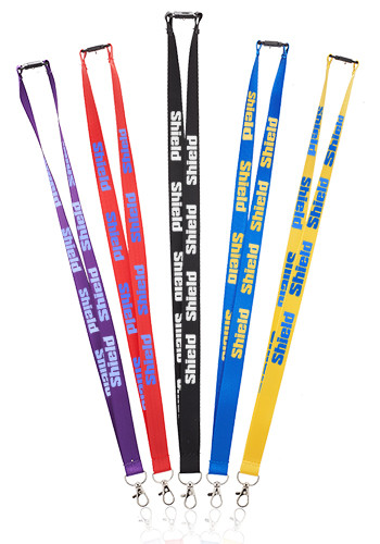 Personalized Pop Nylon Lanyards with Snap and Lobster Clip