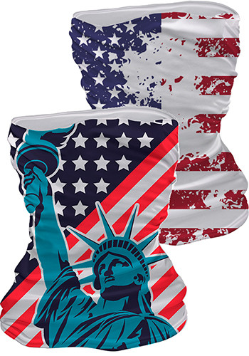 Pre-designed Neck Gaiters USA Flag Print | WEMBGAITUSA
