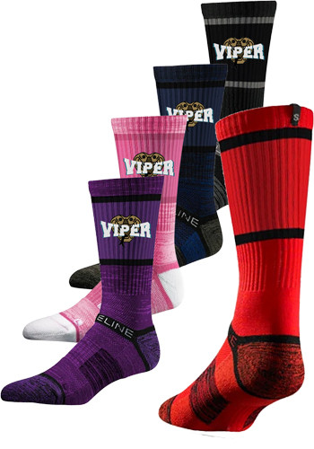 Customized Premium Compression Crew Socks (Pair)