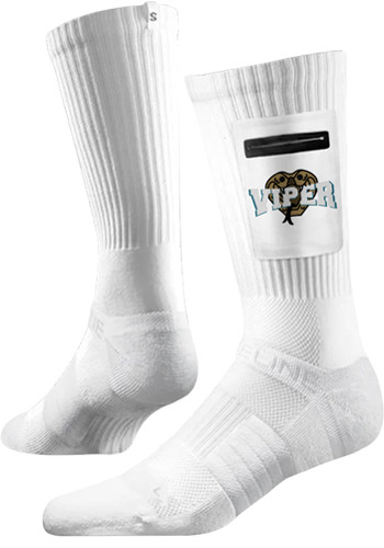 Customized Premium Utility White Crew Socks