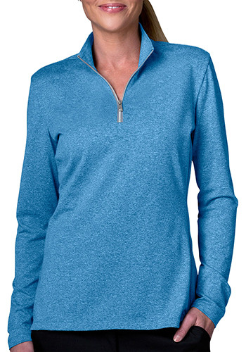Greg Norman Women's 1/2-Zip Heathered Pullovers | WNS5k481