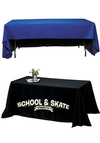 Promotional 8 ft. 3-Sided Economy Tablecloths