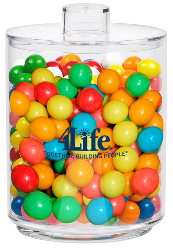 Customized Acrylic Cylinder Gift Jars with Gumballs